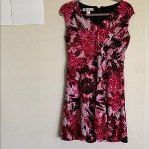 Maggy London Dresses - Cap Sleeve Floral Fit and Flare Dress